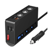 3 Socket Cigarette Lighter Adapter, 180W, QC 3.0 USB