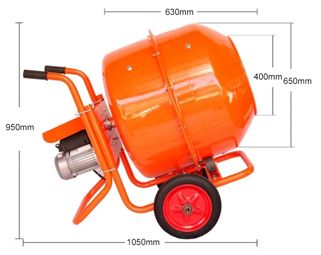 200l concrete mixer dimension