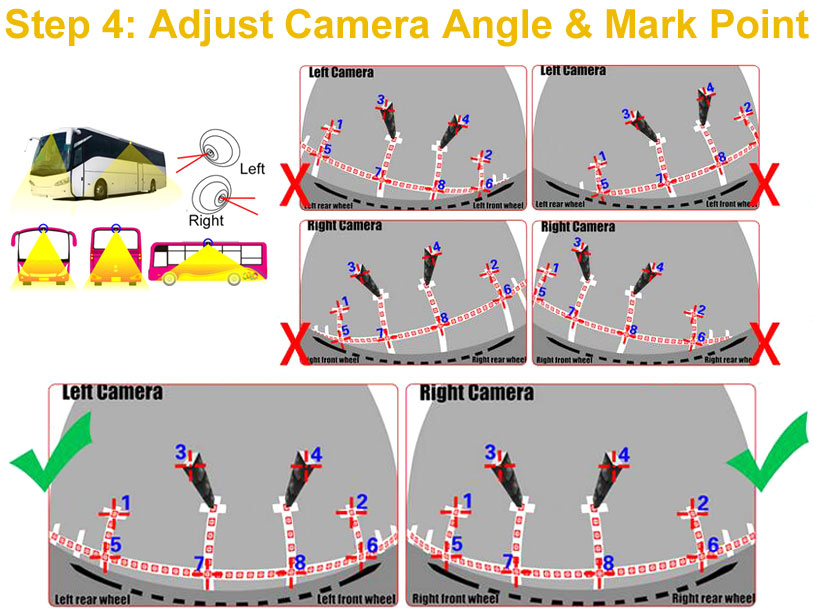 adjust truck camera angle and mark calibration points