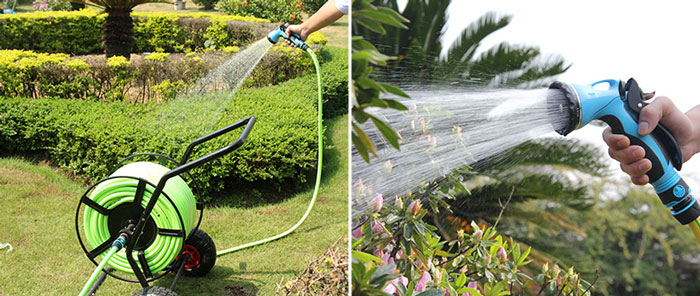 Garden Hose Reel Cart with water Nozzle