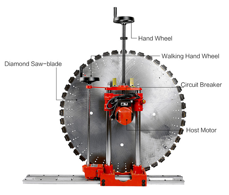 12 inch hand control wall cutter machine details