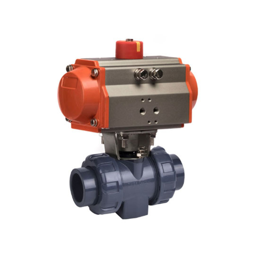 "2"" Pneumatic PVC Ball Valve, 2 Way"