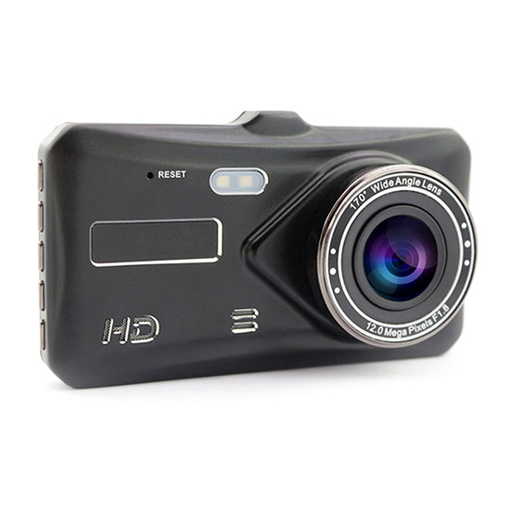 Front and Back Dash Cam, 4 Inch Touch Screen