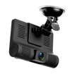 3 Camera Dash Cam, Front/Rear/Interior, 4 Inch, 1080P