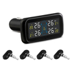 Car TPMS with 4 Wireless Tire Sensors