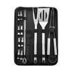 Stainless Steel BBQ Tool Set, 16 Piece, Carry Bag