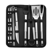 18 Piece Complete BBQ Grill Set with Portable Bag
