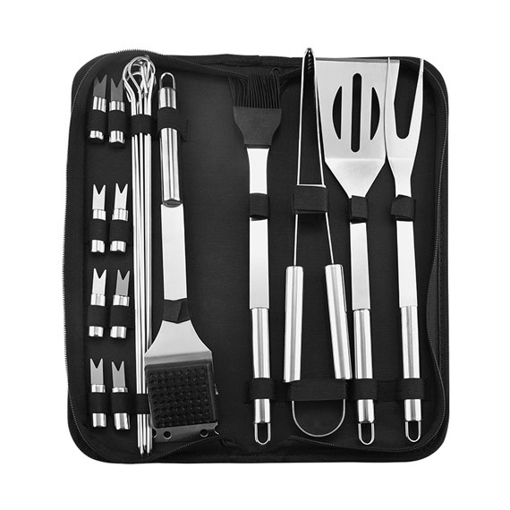 20 Piece Stainless Steel BBQ Utensil Set for Grilling