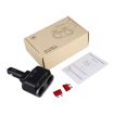 2 Socket Cigarette Lighter Adapter, 80W, 2 USB/Type-C