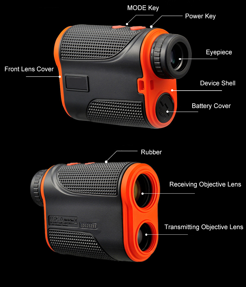 850 yards golf / hunting laser rangefinder details
