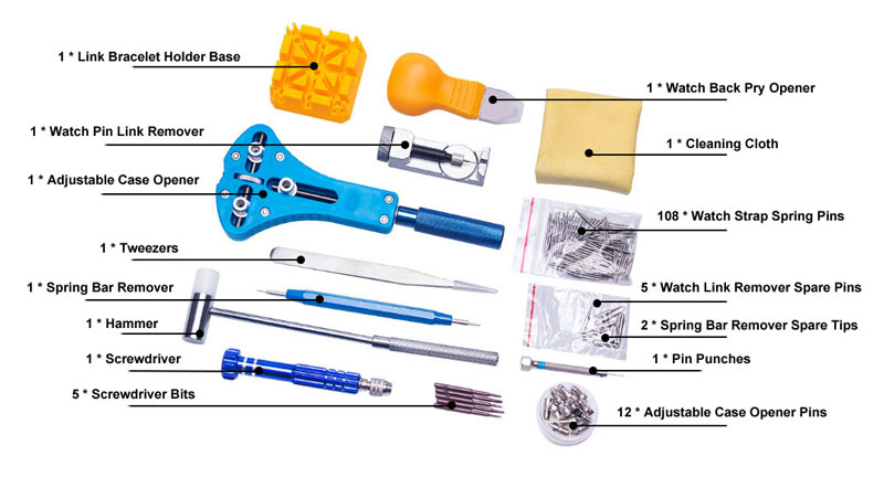 143PCS Watch Repair Tool Kit Details