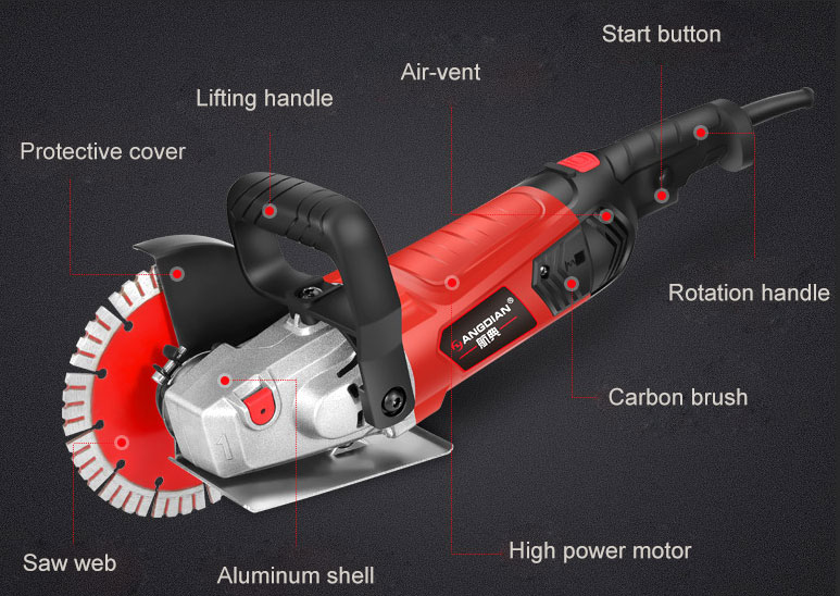 1600W wall chasher grooving machine details