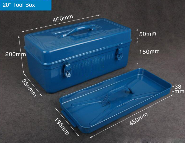 20 inch Metal Portable Tool Box Size