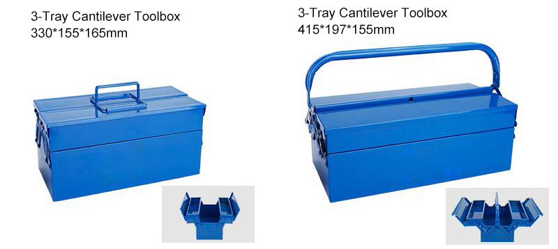 3 Tray Metal Cantilever Tool Box