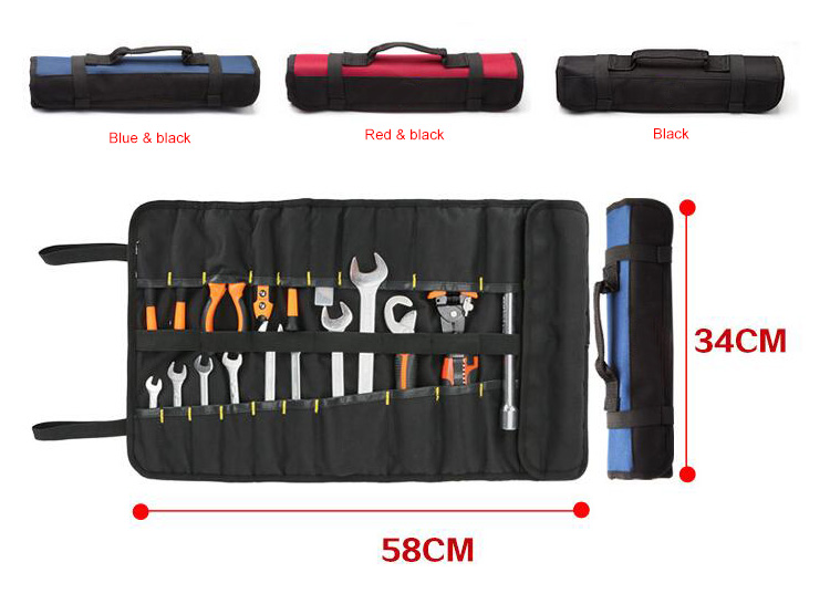 35-pocket tool roll bag color and size