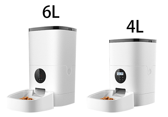 4L/6L Smart Automatic Pet Feeder Capacity comparison