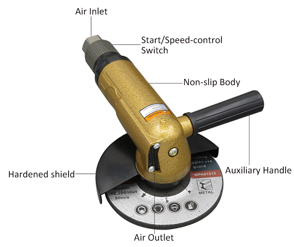 5 inch air angle grinder details