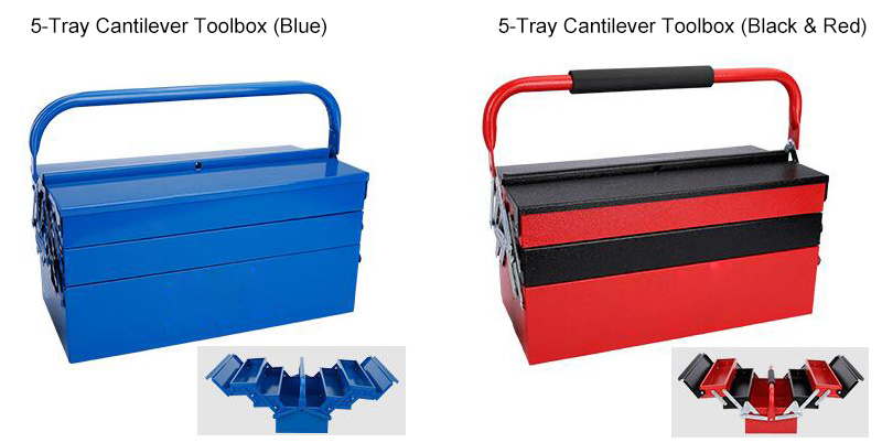 5 Tray Metal Cantilever Tool Box