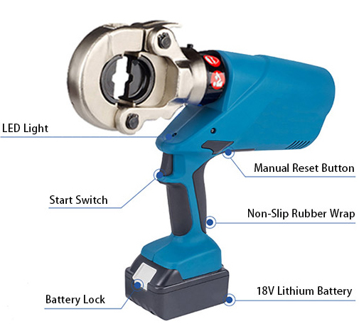 6 ton battery hydraulic crimping tool