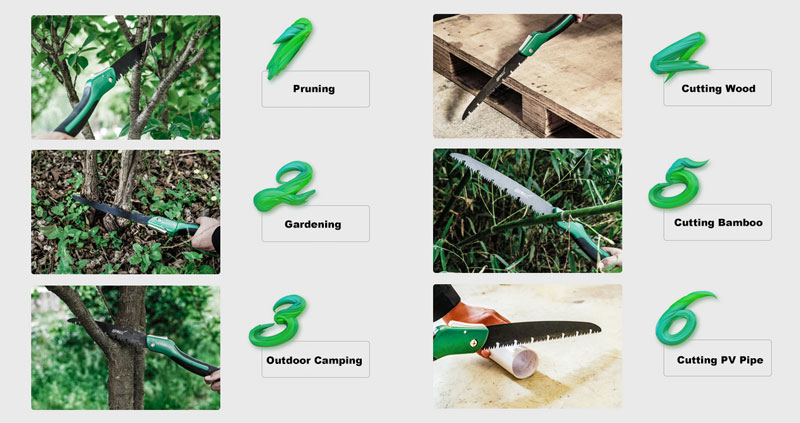 7 10 inch Folding Saw Applications