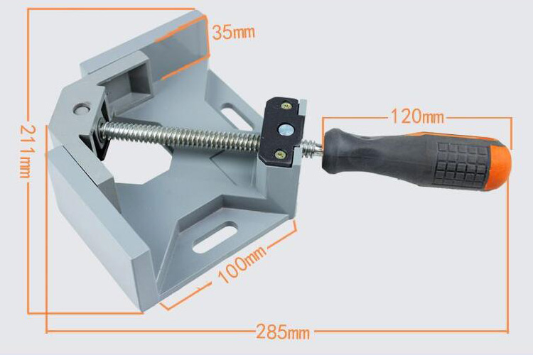 90 Degree Right Angle Clamp Sizes
