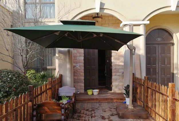 LED outdoor patio umbrella