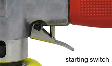 Air orbital sander starting switch