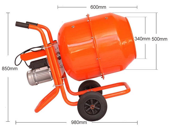 120L mini concrete mixer machine dimension