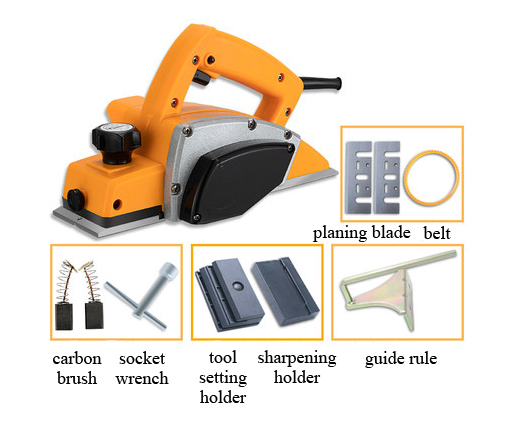 Configuration of Hand-Held Electrical Planer, 3-1/5 in, 5.0 Amp