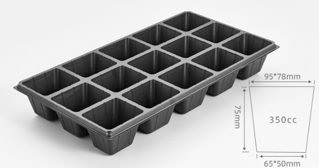 Details of 3x5 plant growing trays