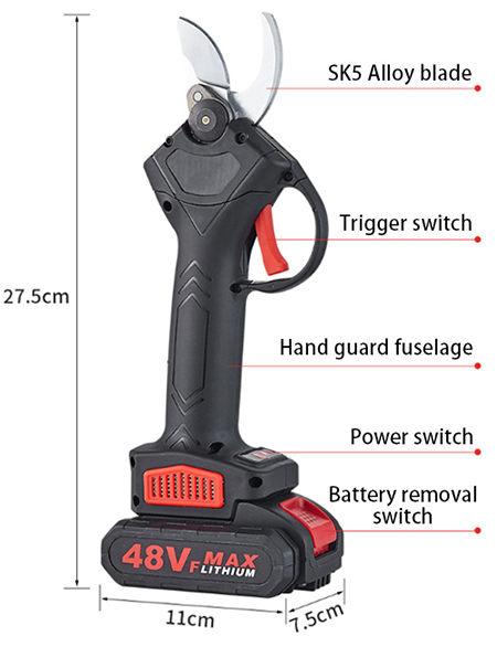Details of 48v electric pruning shears