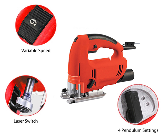 Details of 2-4/7 In Electric Jig Saw, 3.3 Amp