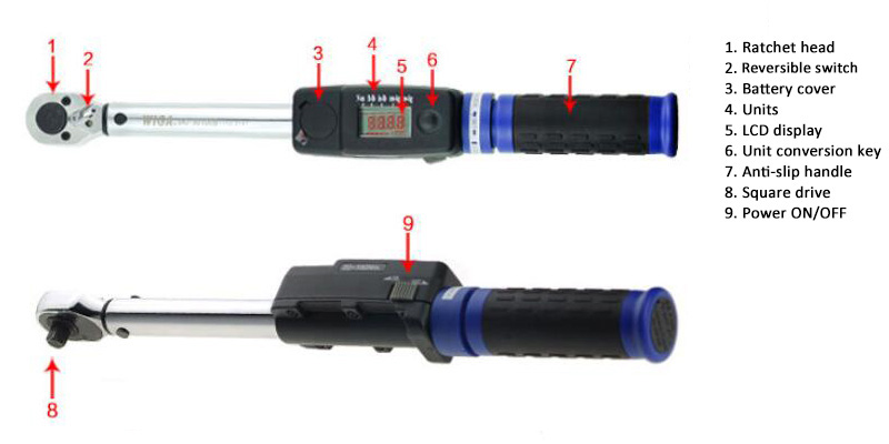 1/2 inch Digital Torque Wrench Details