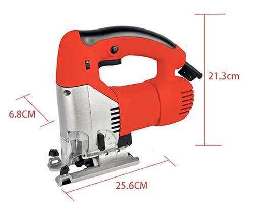 Dimension Drawing of 3.15 Inch Electric Jig Saw, 2.5A