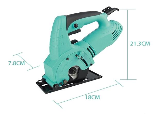 Dimension Drawing of 85mm Electric Circular Saw with Laser, 240V