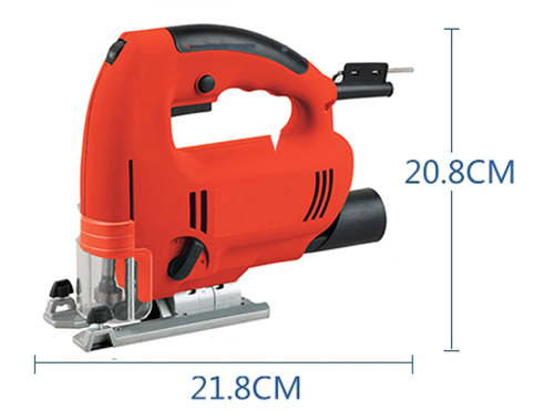Dimension Drawing of 2-4/7 in electric jig saw, 3.3Amp
