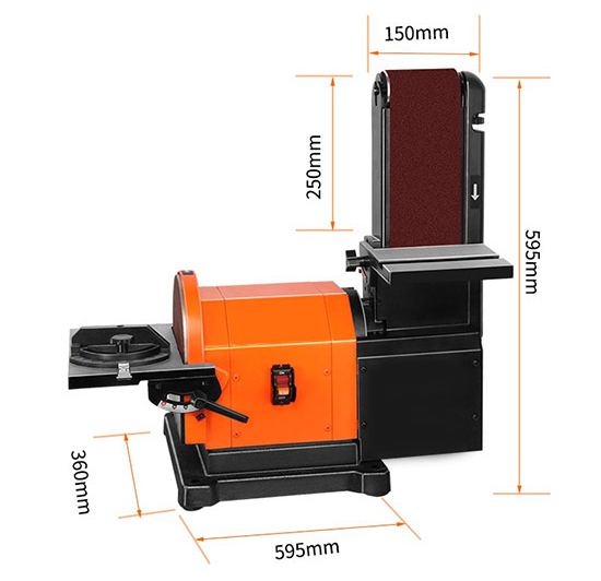 Dimensions of 4 x 36 Inch Belt and 8 Inch Disc Sander
