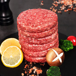 Meat grinder for hamburger patties