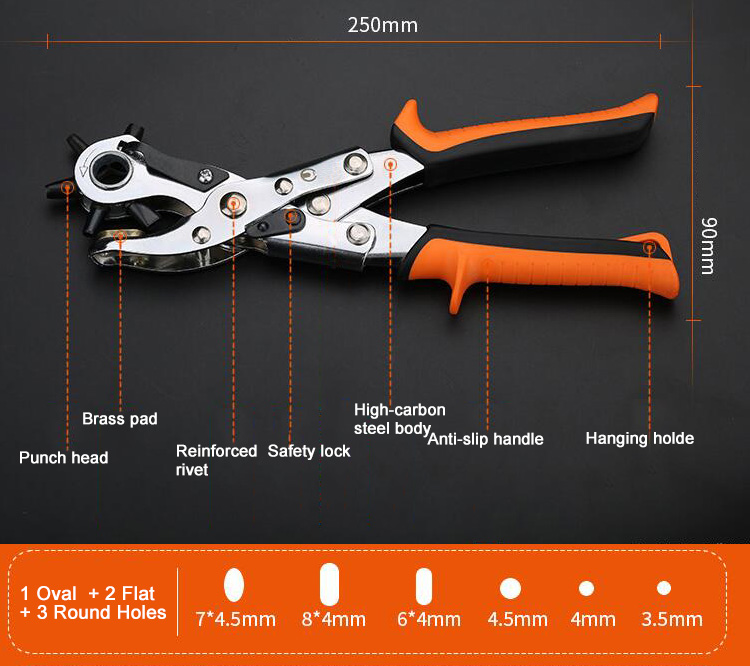 Hole Punch Pliers Dimension