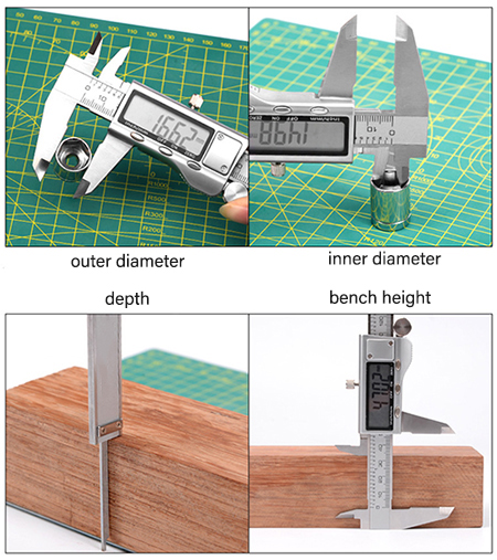 How to use a digital vernier caliper