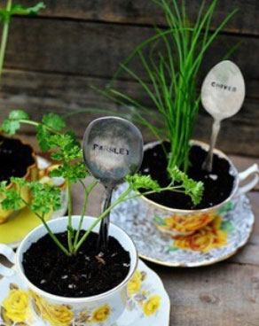 Make a plant label with a spoon