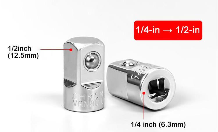 Quarter Inch to Half Inch Socket Adapter