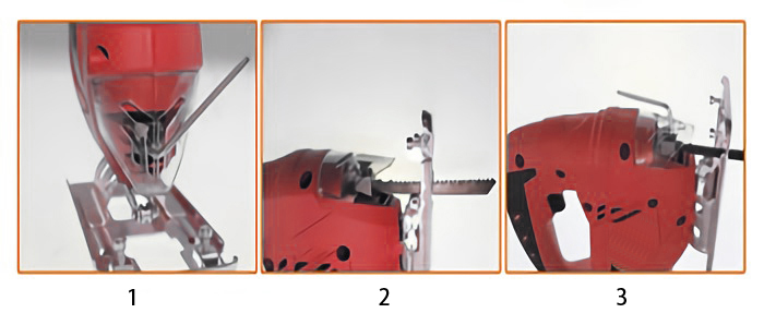 Saw Blade Installation of 3.15 Inch Electric Jig Saw, 2.8A