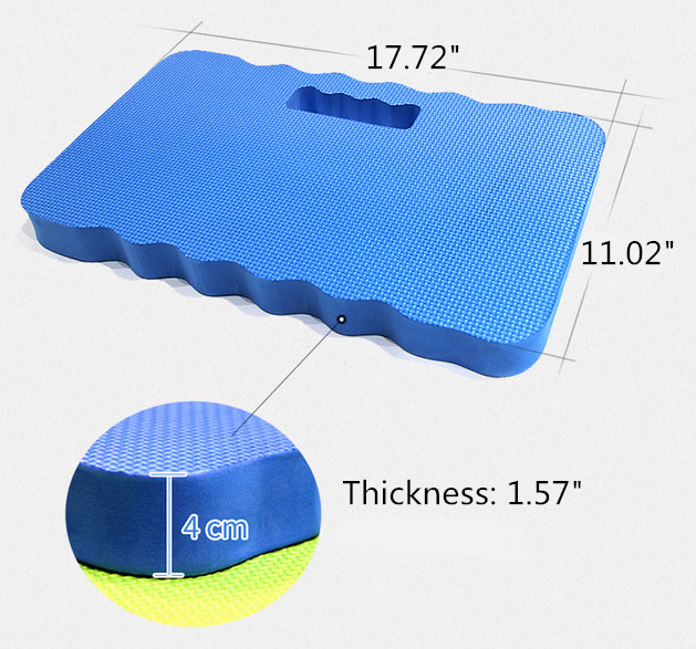 Square gardening knee pad dimension