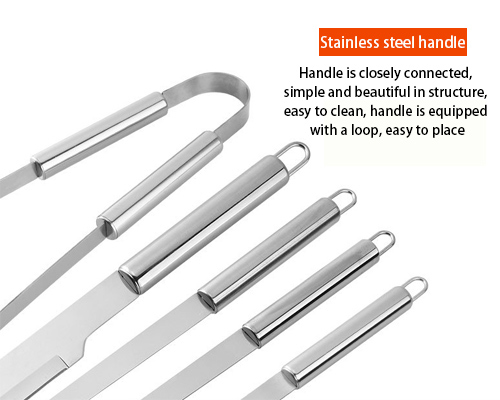Stainless steel handle of grill tool set