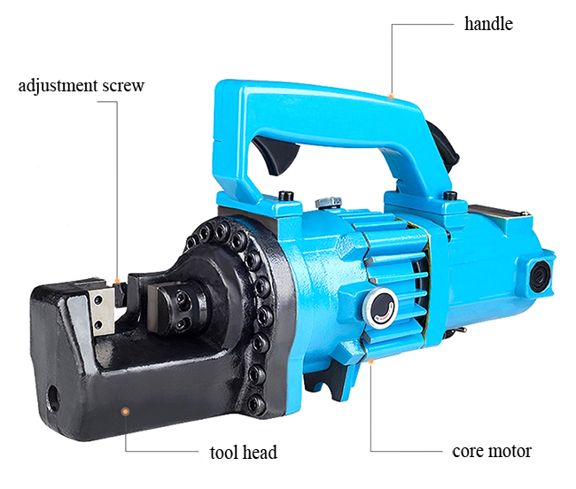 Structure Diagram of Electric Rebar Cutter, 7/8 inch, 1.6kW