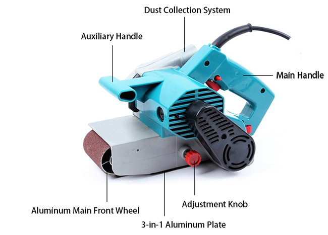 Structure of 3 x 21 Inch Variable Speed Belt Sander