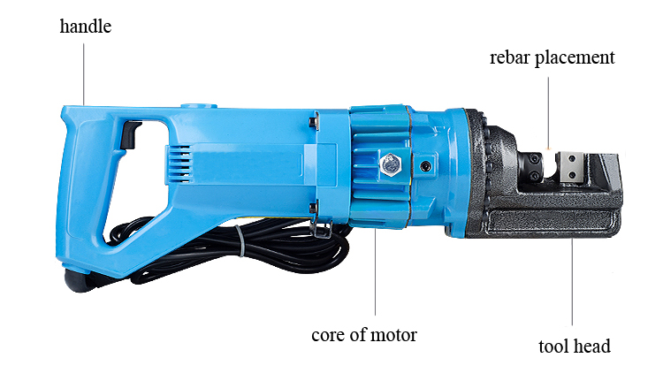 "Structure Diagram of Electric Rebar Cutter, 5/8"", 1.05kW"