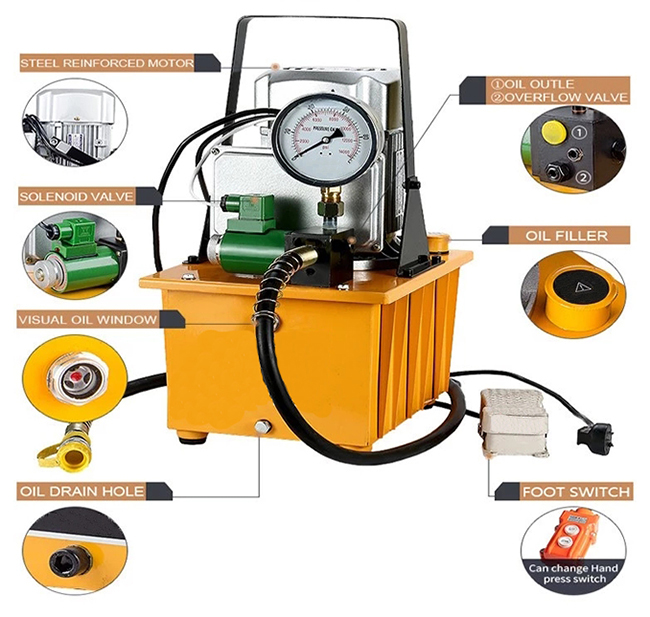 Structure Diagram of 1500W/750W Hydraulic Electric Pump, 10000 psi