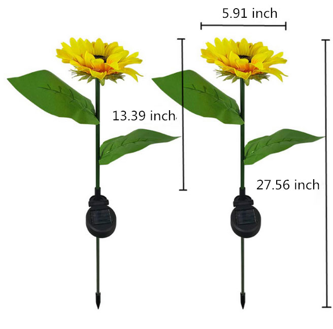 Sunflower solar light dimension
